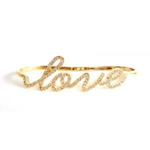 Bracelete Love c/Brilhantes e Ouro 18k