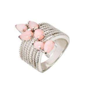 Anel Coral Rosa